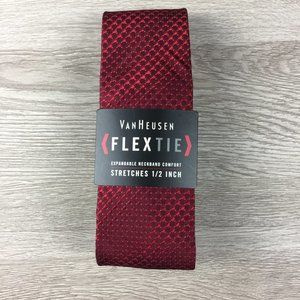 Van Heusen Burgundy Patterned Flex Tie